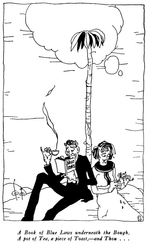 The Rubaiyat of Ohow Dryyam, Man and Woman Under Tree