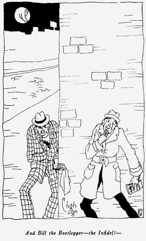 The Rubaiyat of Ohow Dryyam, Two Men at Corner