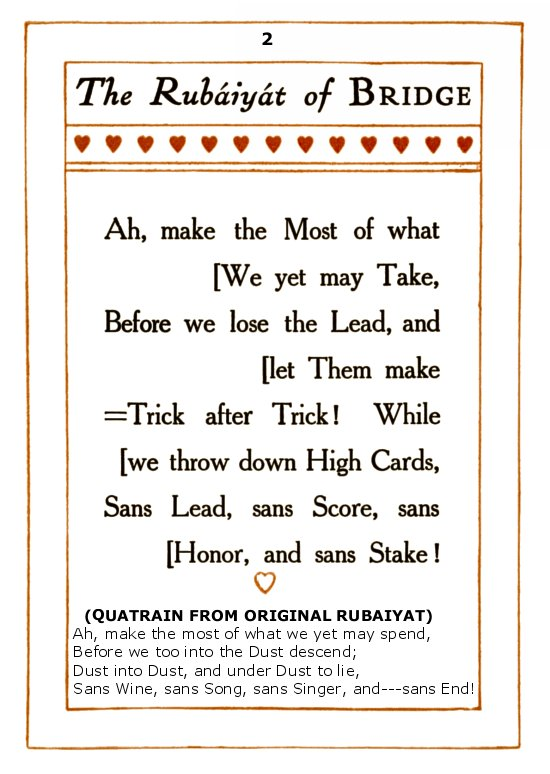The Rubaiyat of Bridge