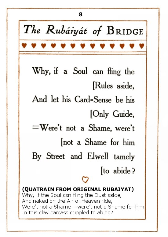 The Rubaiyat of Bridge